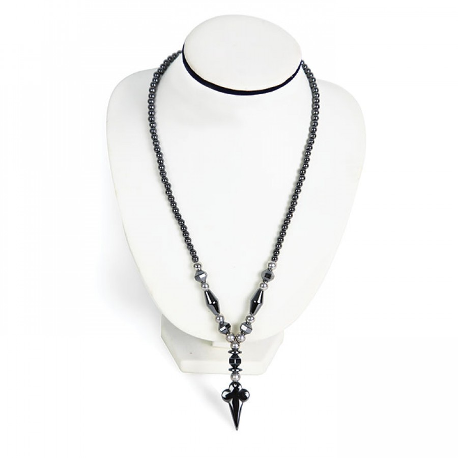 Women African Design traditional dollor Hematite Fashion Necklace