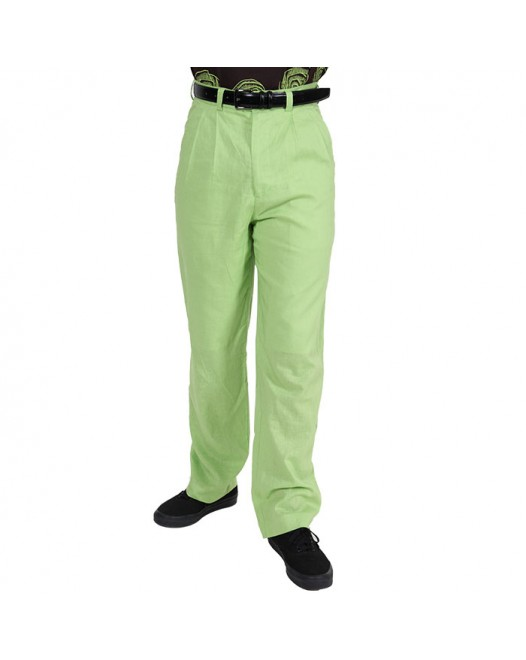 Men Casual Regular Fit pistachio pant