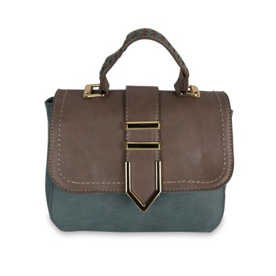 Women handy suitecase type leather bag