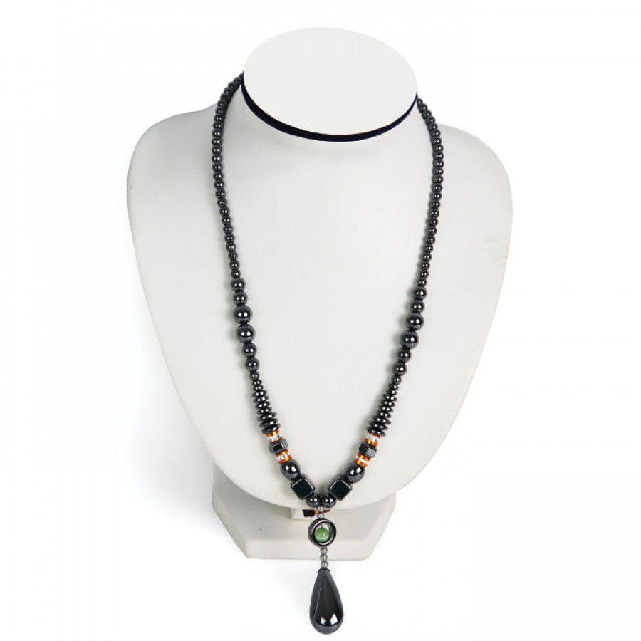Women African Shinny dollar Design Hematite Fashion Necklace