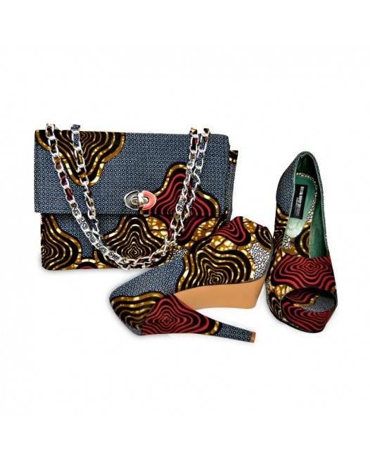 women design clutches bag with long heals