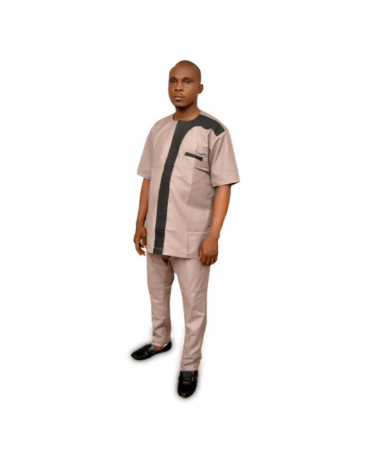African  mens casual dress set