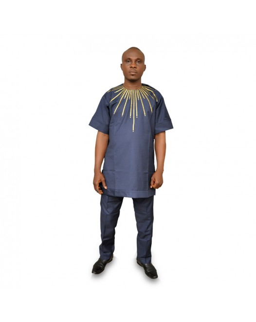 Royal blue African men set