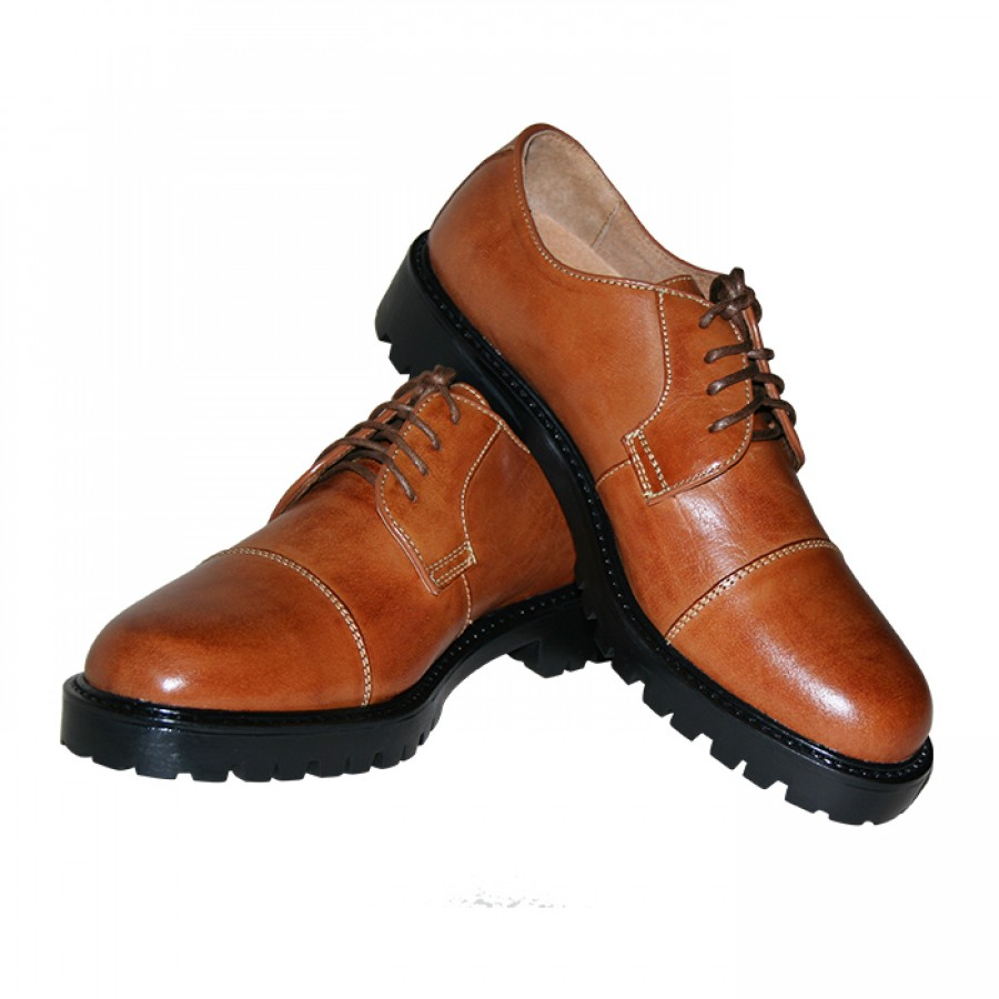 Men's Brown Lace Up Patent Leather Oxford Dress Shoes Formal Shoe