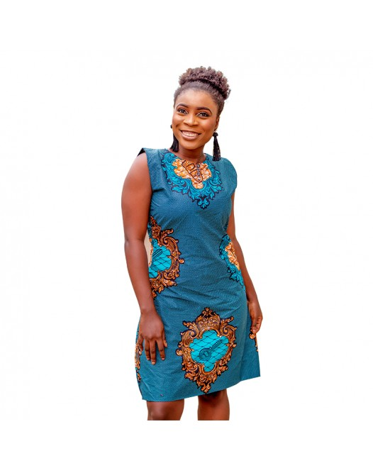 African Sleeveless Ankara mini Dress