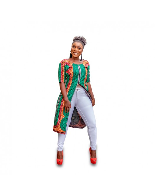 African Women Latest Design Ankara Top