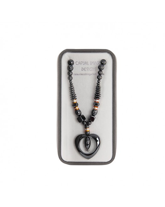 Women Hematite Fashion Necklace besides dollar with Gift Box
