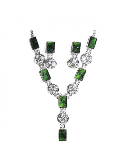 Emerald Fashion 18ct White Green Fine Fashion Jewelry