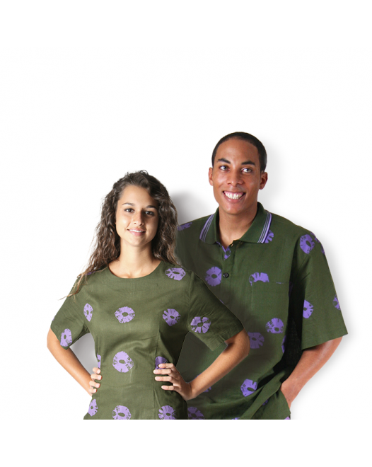Dark Green & Purple Top Men & Women Valentines Special