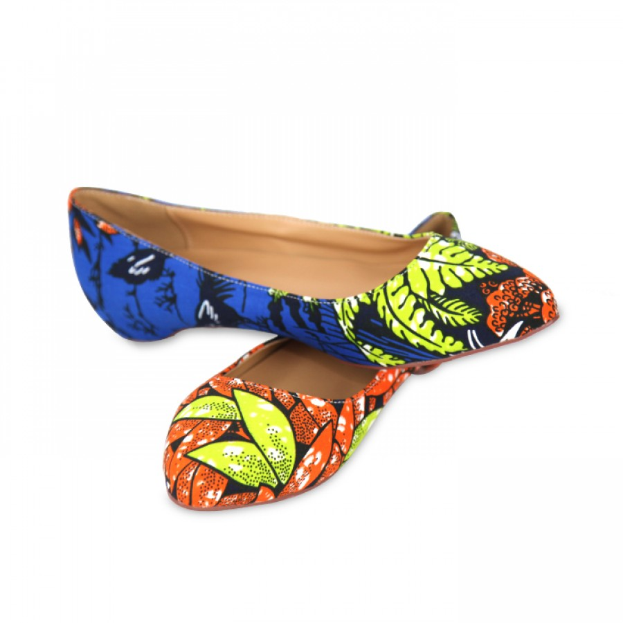 Stylish Ankara Bags With the pair Set of Bellies and Sneakers