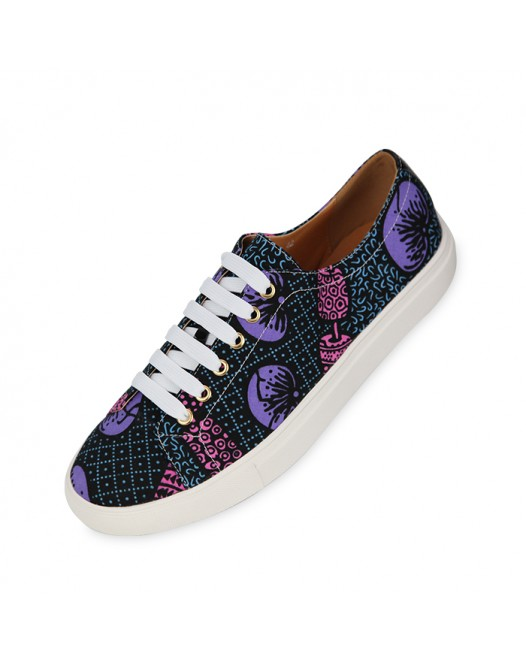 Unisex Blue Funky Design Sneakers