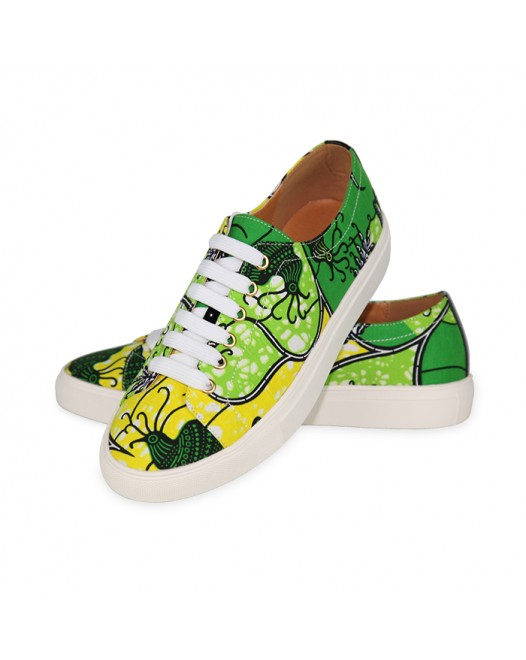 Men funky Converse Green Patten Designer Sneakers