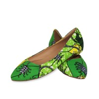 Stylish Green Ankara Bags With the pair Set of Bellies and Sneakers