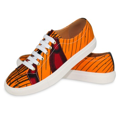 Unisex Trendy Converse Orange Sneakers
