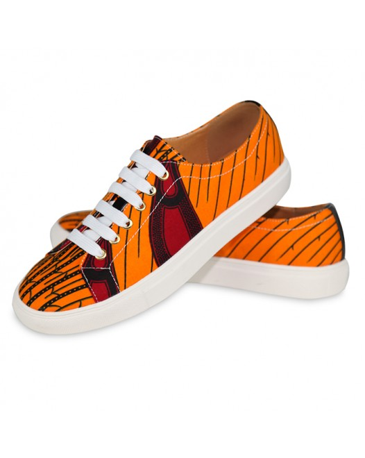 Men Trendy Converse Orange sneakers