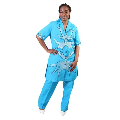 Royal sky blue Pyjama Tops Design Gown for Women