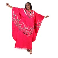 African Red Boubou woman elephant design dress