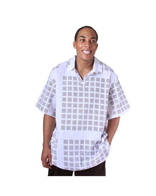 Men's Royal checked Half Sleeve Box Design Shirt
