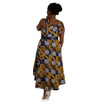 African wrap dress with stylish design